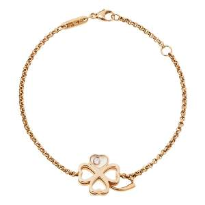 Chopard Happy Diamonds Good Luck Charm Diamond 18K Rose Gold Bracelet