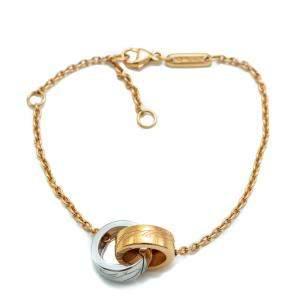 Chopard Chopardissimo White & Rose Gold Bracelet Size 19