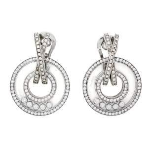 Chopard Happy Diamonds 18K White Gold Earclips Earrings