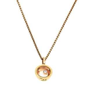 Chopard Happy Diamonds Icon 18K Rose Gold Pendant Necklace