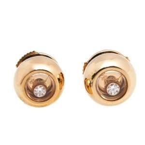 Chopard Miss Happy Diamonds 18k Rose Gold Earrings