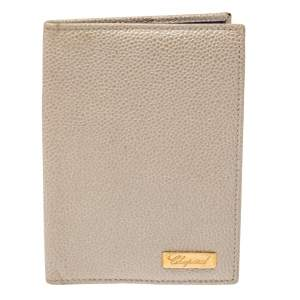 Chopard Beige Textured Leather Passport Holder