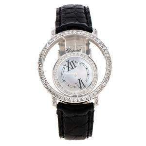 Chopard Mother of Pearl 18K White Gold Diamonds 20/7230 Women's Wristwatch 36 mm