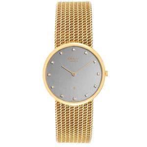ساعة يد نسائية شوبارد كلاسيك كوارتز 1091 ذهب أصفر عيار 18 وألماس رمادية 31 مم
