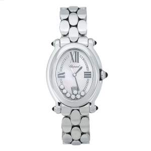 Chopard Mother Of Pearl Stainless Steel Diamond Happy Sport 27/8418-23 Women's Wristwatch 30 mm
