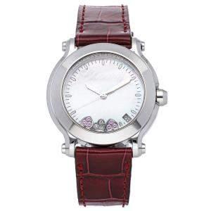 """ساعة يد نسائية شوبارد """"هابي سبورت """"هابي هارت"""" 278475-3044"""" ستانلس ستيل ألماس صدف 36 مم"""