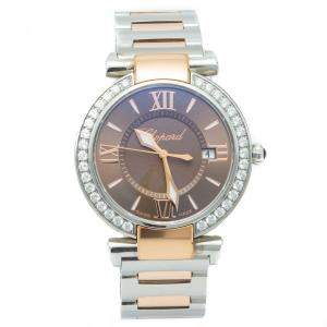 Chopard Imperiale Steel & Rose Gold Diamond Bezel Women's Watch 36 MM