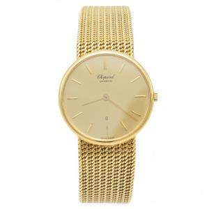 Chopard 1091 Goden Dial 18k Yellow Gold Women's Watch 33 MM