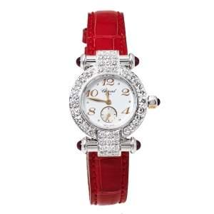 Chopard White 18K White Gold Diamonds Imperiale 39/3157-21 Women's Wristwatch 26MM