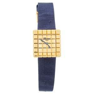 ساعة يد نسائية شوبارد أيس كيوب باي دو غريسوغونو ذهب أصفر عيار 18 25مم