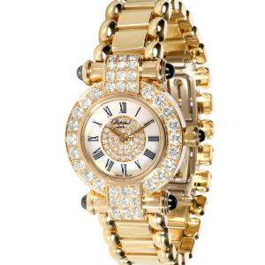 Chopard White Diamonds 18K Yellow Gold Imperiale 39/3168-23 Women's Wristwatch 26.5 MM
