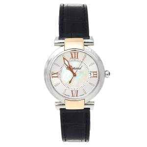 Chopard Silver Mother of Pearl 18K Rose Gold & Stainless Steel Imperiale 388532-6001 Women's Wristwatch 36 mm