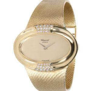 Chopard Champagne 18K Yellow Gold Dress 5047 1 Women's Wristwatch 38 MM