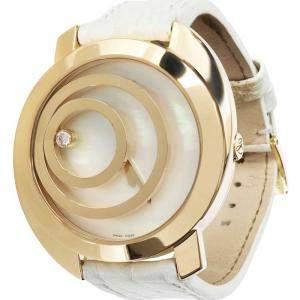 Chopard White 18K Yellow Gold Happy Spirit 20/7153 Women's Wristwatch 40.5 MM