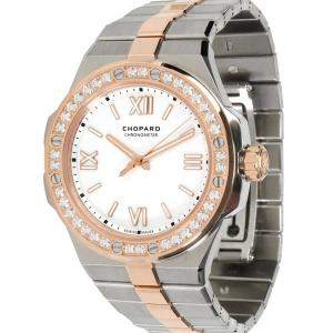 Chopard White 18K Rose Gold And Stainless Steel Alpine Eagle 298601-6002 Women's Wristwatch 36 MM
