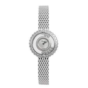 ساعة يد نسائية شوبارد إم أو بي هابي دايموندز 2041801201 ذهب أبيض 30.3 مم