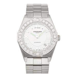 Chopard Silver Diamonds Stainless Steel Alpine Eagle 8379 Women's Wristwatch 36 MM