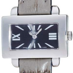 Chopard Grey 18K White Gold Square 12/7440/8 Women's Wristwatch 28.5 MM