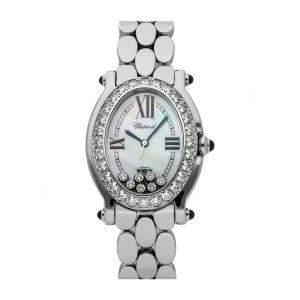Chopard MOP Diamonds Stainless Steel Happy Sport 27/8991-23/11 Women's Wristwatch 30 x 35 MM