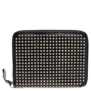 Christian Louboutin Black leather Studded iPad Case