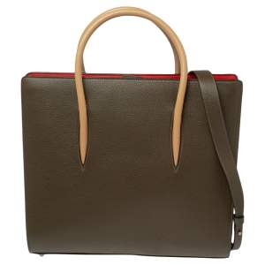 Christian Louboutin Tricolor Leather Large Paloma Tote