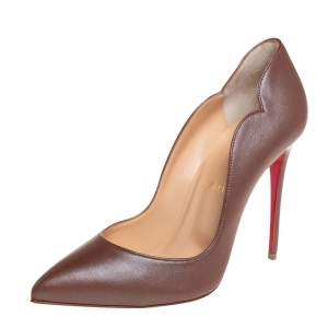 Christian Louboutin Brown Leather Hot Chick Pumps Size 39