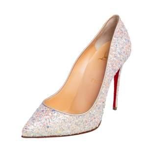 حذاء كعب عالي كريستيان لوبوتان بيغال فوليز غليتر متعدد الألوان مقاس 37