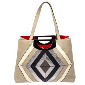 Christian Louboutin Multicolor Leather Passage Colorblock Tote