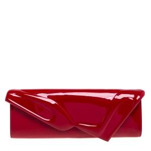 Christian Louboutin  Red Patent Leather So Kate Baguette Clutch