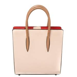 Christian Louboutin Biege Leather Small Paloma Studded Tote