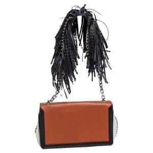 Christian Louboutin Tri Color Leather  Artemis Fringe Shoulder Bag