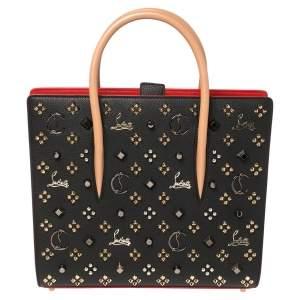 حقيبة يد توتس كريستيان لوبوتان بالوما جلد مرصع ثلاثي اللون متوسطة