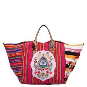 حقيبة يد توتس كريستيان لوبوتان ميكسيكابا قماش متعدد الألوان