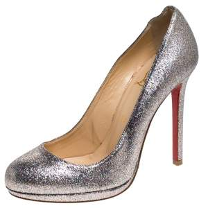 حذاء كعب عالي كريستيان لوبوتان فيفي غليتر متعدد الألوان مقاس 38.5