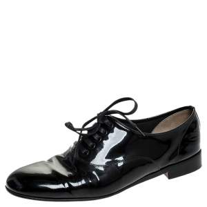 Christian Louboutin Black Patent Leather Lace Derby Size 39