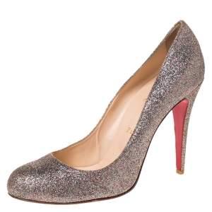 حذاء كعب عالى كريستيان لوبوتان فيفي غليتر متعدد الألوان مقاس 40.5