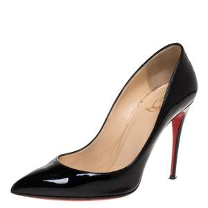 Christian Louboutin Black Patent Leather So Kate Pointed Toe Pumps Size 38
