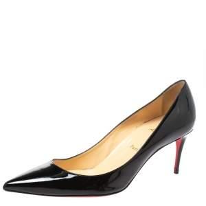 Christian Louboutin Black Patent Leather Kate Pumps Size 41