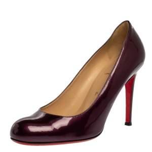 Christian Louboutin Purple Patent Leather Simple Pumps Size 39
