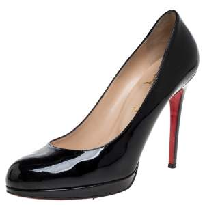 Christian Louboutin Black Patent Leather New Simple Pumps Size 41