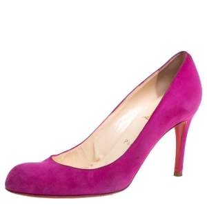 Christian Louboutin Fuchsia Suede Simple Pumps Size 38.5