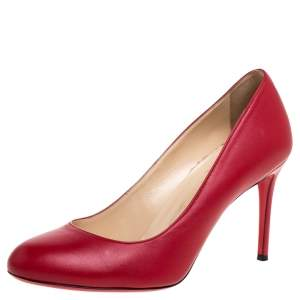 Christian Louboutin Red Leather Simple Pumps Size 37