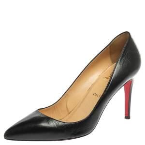 Christian Louboutin Black Leather So Kate Pumps Size 41
