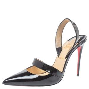Christian Louboutin Black Patent Leather Actina Pumps Size 38