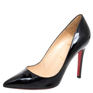 Christian Louboutin Black Patent Leather So Kate Pumps Size 38