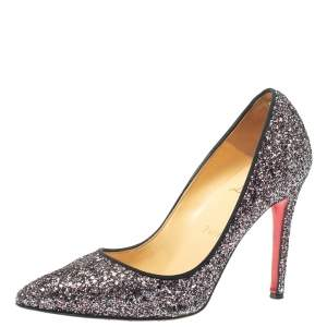Christian Louboutin Multicolor Glitter Pigalle Pumps Size 38
