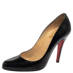 Christian Louboutin Black Leather Decollete 868 Pumps Size 36.5