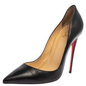 Christian Louboutin Black Leather So Kate Pumps Size 41.5