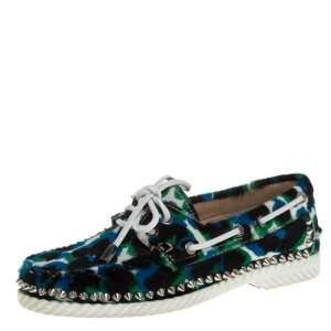 حذاء لوفرز كريستيان لوبوتان سبايك ستيكل فرو متعدد الألوان مقاس 36