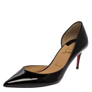 Christian Louboutin Black Patent Leather Iriza Pumps Size 39